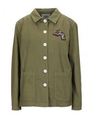 Куртка MOMONÍ. Цвет: зеленый-милитари