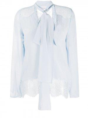 Блузка с бантом Faith Connexion. Цвет: синий