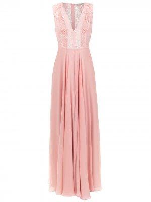 Длинное платье Dara Martha Medeiros. Цвет: розовый