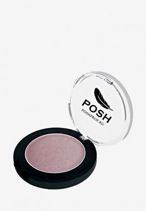 Тени для век Posh №15 Монохромные Мелкодисперсные высокопигментированные Влагостойкие Цветущая сакура. Цвет: розовый