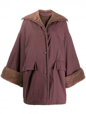 Утепленное пальто 1990-х годов Romeo Gigli Pre-Owned. Цвет: фиолетовый