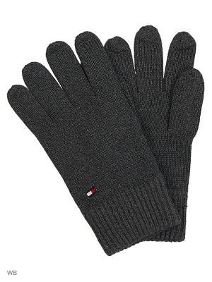 Перчатки Tommy Hilfiger. Цвет: темно-серый