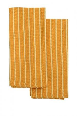 Набор кухонных полотенец 50х70 Tkano. Цвет: оранжевый