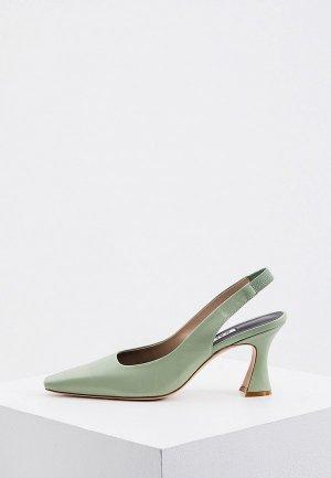 Туфли Kalliste. Цвет: зеленый