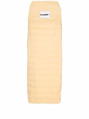 Дутый спальный мешок Jil Sander. Цвет: желтый