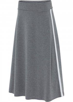 Юбка макси bonprix. Цвет: серый
