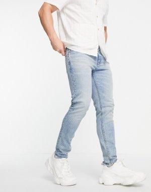 Голубые джинсы скинни в винтажном стиле американской классики Cone Mill Denim-Голубой ASOS DESIGN