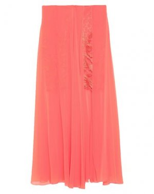 Длинная юбка ALLURE. Цвет: коралловый
