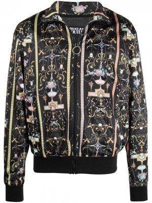 Бомбер с принтом Versace Jeans Couture. Цвет: черный
