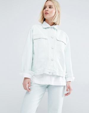 Джинсовая куртка бойфренда Karin Waven. Цвет: зеленый