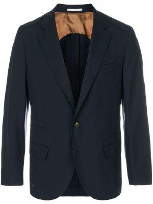 Деловой пиджак Brunello Cucinelli. Цвет: синий