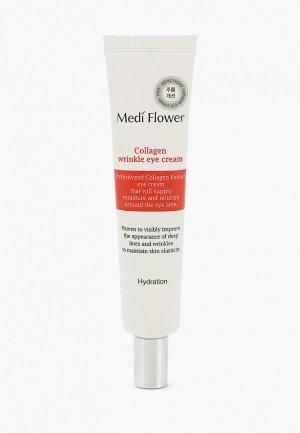 Крем для кожи вокруг глаз Medi Flower витализирующий с коллагеном, 40 мл. Цвет: прозрачный