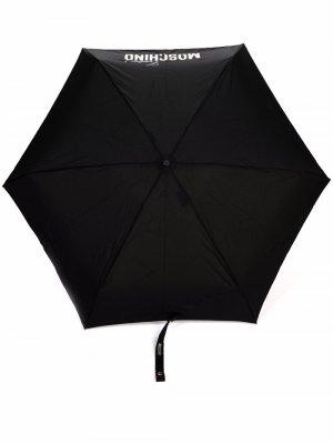 Logo-print umbrella Moschino. Цвет: черный