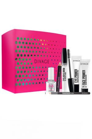 Набор устойчивый макияж Divage. Цвет: розовый