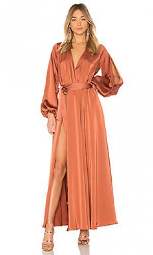 Вечернее платье eric Michael Costello. Цвет: металлический бронзовый