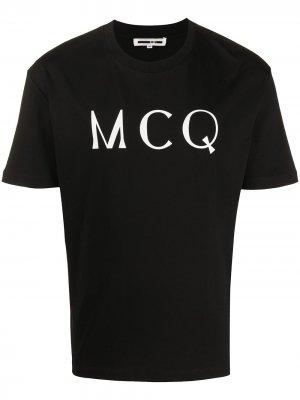 Футболка с логотипом McQ Alexander McQueen. Цвет: черный