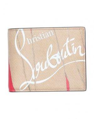 Бумажник CHRISTIAN LOUBOUTIN. Цвет: песочный
