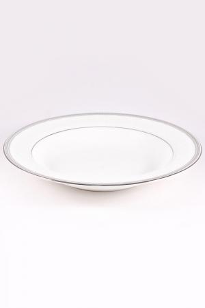 Набор тарелок 23 см, 6 шт. Narumi. Цвет: белый, платина