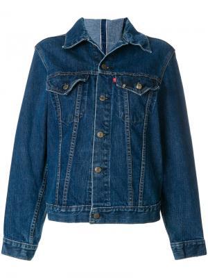 Классическая джинсовая куртка R13. Цвет: синий