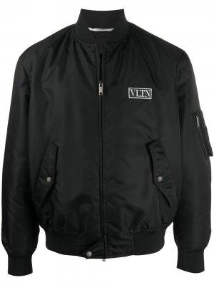 Куртка-бомбер с логотипом VLTN Valentino. Цвет: черный