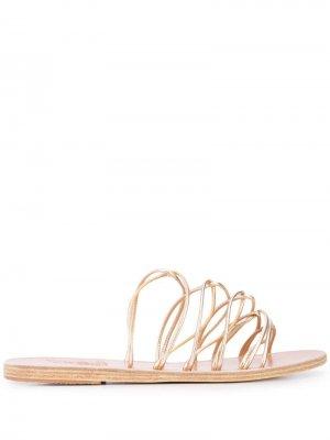 Сандалии Rodopi с ремешками Ancient Greek Sandals. Цвет: золотистый