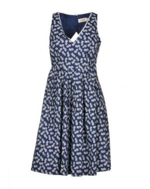 Платье до колена LOUCHE. Цвет: темно-синий