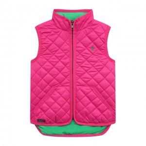 Стеганый жилет Ralph Lauren. Цвет: розовый