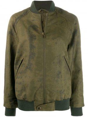 Куртка-бомбер с эффектом потертости Mr & Mrs Italy