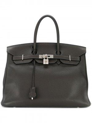 Сумка-тоут Birkin 35 2009-го года Hermès. Цвет: серый