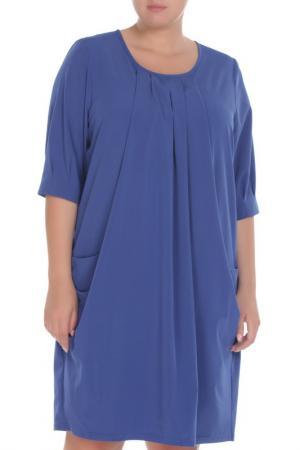 Платье Amazone. Цвет: электрик