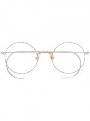 Солнцезащитные очки Hamish Moscot. Цвет: серебристый