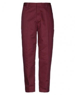 Повседневные брюки STUSSY. Цвет: красно-коричневый