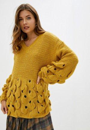 Пуловер Care of You. Цвет: желтый