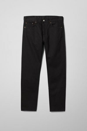 Классические зауженные джинсы Pine Weekday. Цвет: черный