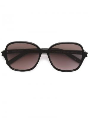 Солнцезащитные очки Classic 8 Saint Laurent Eyewear. Цвет: черный