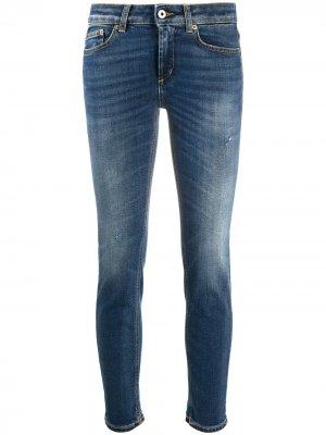 Slim-fit cropped jeans Dondup. Цвет: синий