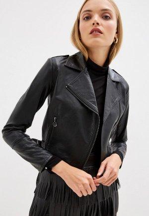 Куртка кожаная Pennyblack RAID. Цвет: черный