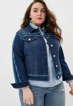 Куртка джинсовая Marina Rinaldi Sport. Цвет: синий