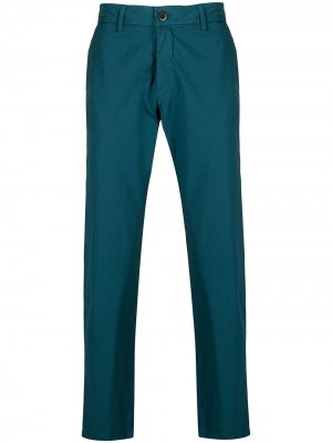 Прямые брюки чинос Barena. Цвет: синий