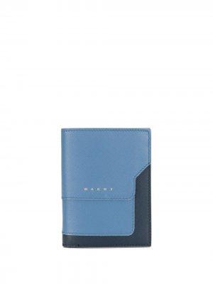 Прямоугольный бумажник Marni. Цвет: синий