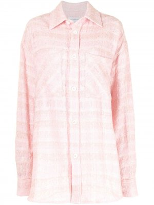 Твидовая рубашка оверсайз Faith Connexion. Цвет: розовый