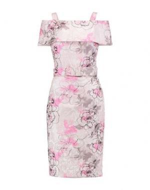 Платье до колена BADGLEY MISCHKA. Цвет: розовый