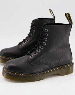 Черные ботинки с 8 парами люверсов 1460 Pascal Bex-Черный цвет Dr Martens