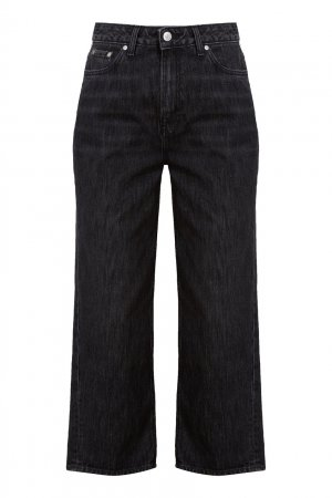 Темно-серые укороченные джинсы Ganni. Цвет: серый