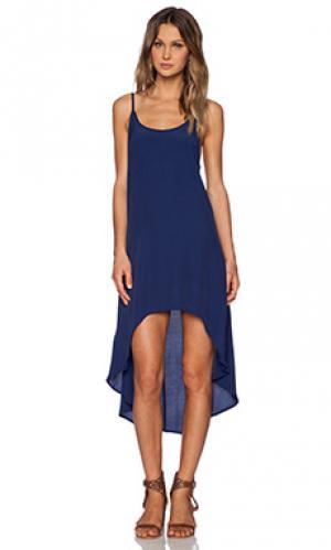 Макси платье elise Cleobella. Цвет: синий