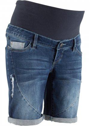 Шорты джинсовые для беременных bonprix. Цвет: синий