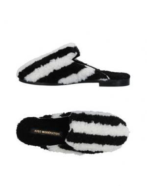 Домашние туфли AVEC MODÉRATION. Цвет: черный