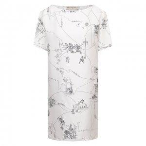 Шелковое платье Emilio Pucci. Цвет: белый