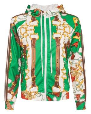 Олимпийка PURI430184 m зеленый+принт P.A.R.O.S.H.. Цвет: зеленый+принт