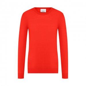 Шерстяной пуловер Burberry. Цвет: красный